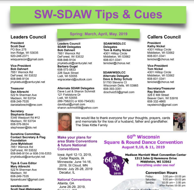SW-SDAW Tips and Cues